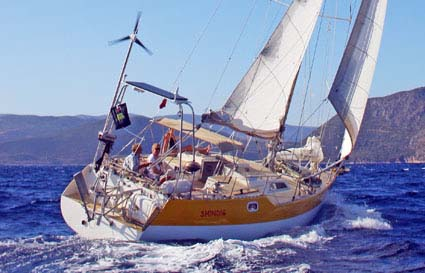 Shindig sailing in the Ionian